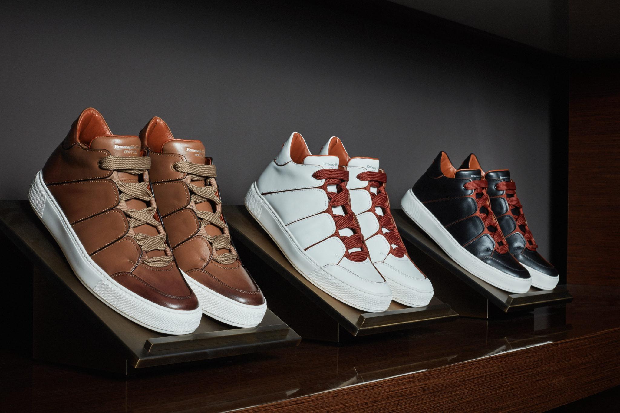 Zegna: High Top Sneakers - PEAKLIFE